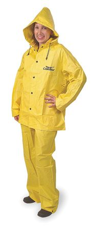 3 Piece Rainsuit w/Detachable Hood, Ylw, M