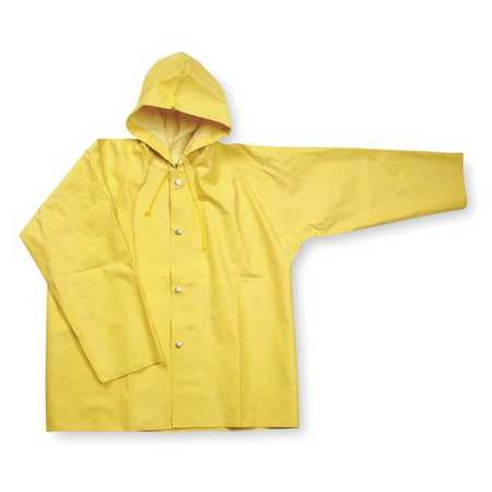 Rain Jacket with Hood, Yellow, 2XL