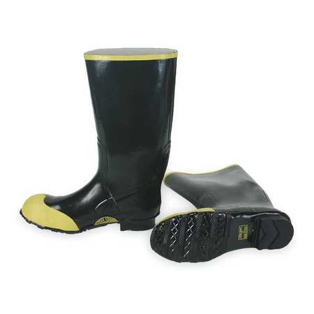 "Knee Boots, Sz 7, 16"" H, Black, Stl, PR"