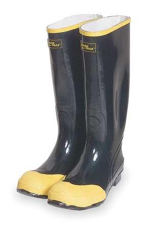"Knee Boots, Sz 10, 16"" H, Black, Stl, PR"