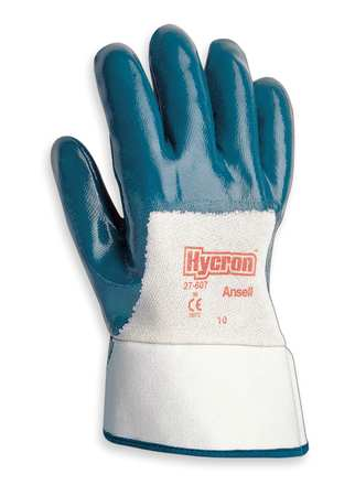 Coated Gloves, 9/L, Blue, PR