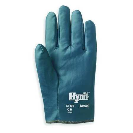 Nitrile Coated Gloves,  L, Blue, PR
