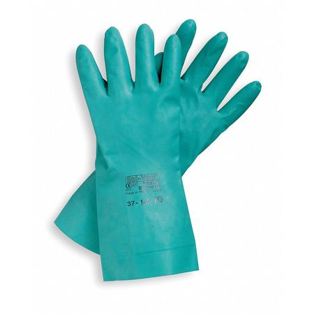 Sol-Vex Chemical Resistant Gloves, 11 mil, Sz 10, PR