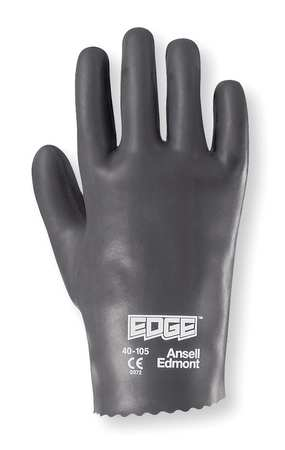 Coated Gloves, Size 8, Blue/Gray, PR