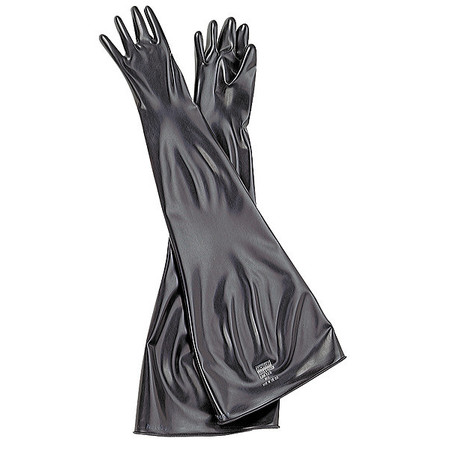 Seamless Dry Box Glove, 32 In. H, Black, PR
