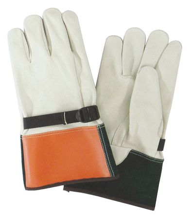 Elec. Glove Protectr, 10, Beige/Org/Grn, PR