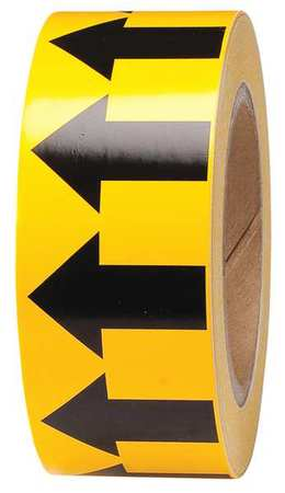 Arrow Tape, Black/Yellow, 2 In. W