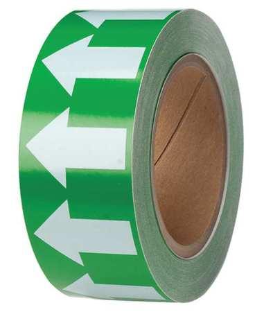 Arrow Tape, White/Green, 2 In. W