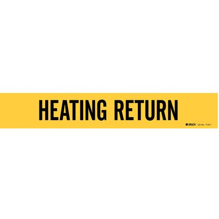 Pipe Mrkr, Heating Return, 2-1/2to7-7/8 In