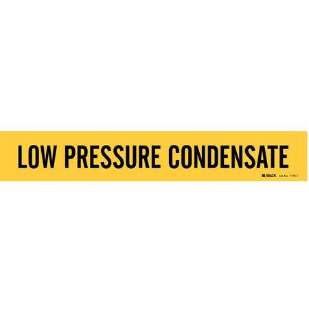 Pipe Marker, Low Pressure Condensate, Yel
