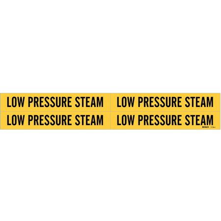 Pipe Mrkr, Low Pressure Steam, 3/4 to2-3/8