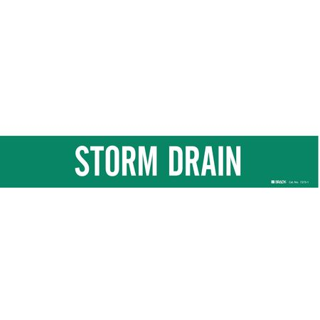 Pipe Marker, Storm Drain, 2-1/2to7-7/8 In
