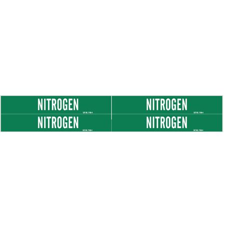 Pipe Marker, Nitrogen, Grn, 3/4 to 2-3/8 In