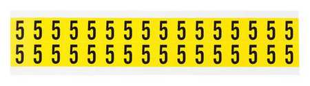 Carded Numbers and Letters, 5, PK32