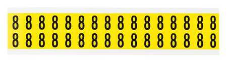 Carded Numbers and Letters, 8, PK32