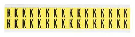 Letter Identification Card, K, PK32