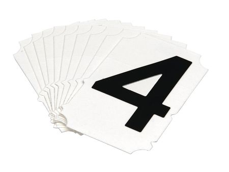 Carded Numbers and Letters, 4, PK10