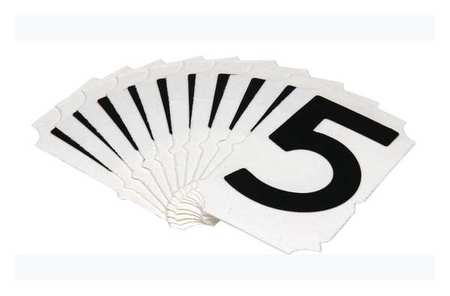 Carded Numbers and Letters, 5, PK10