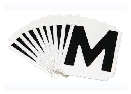 Letter Identification Card, M, PK10