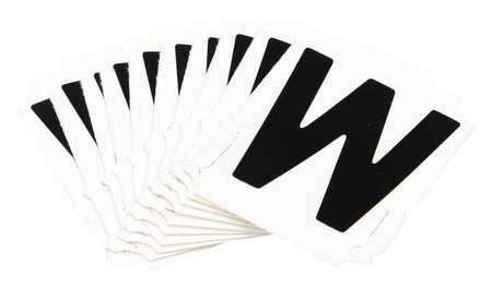 Letter Identification Card, W, PK10