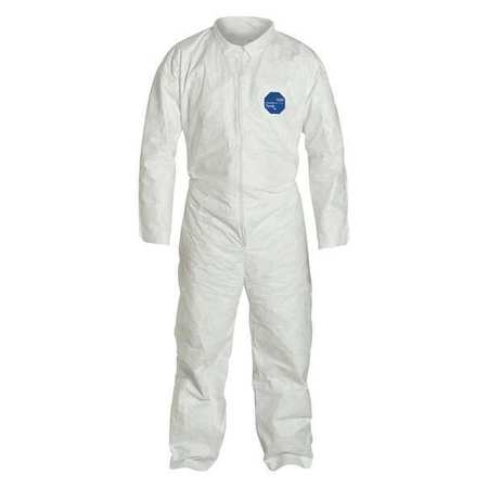 Collared Tyvek(R), White, Open, 3XL, PK6