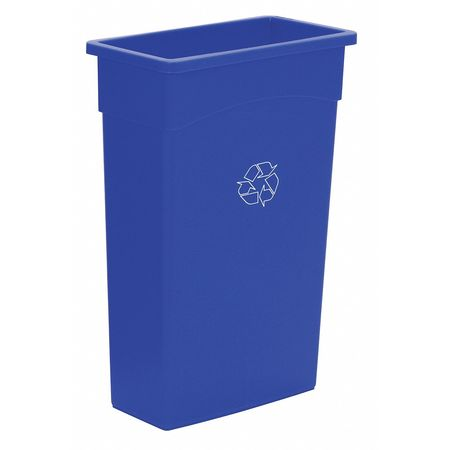 Recycling Container, Blue, 23 gal.
