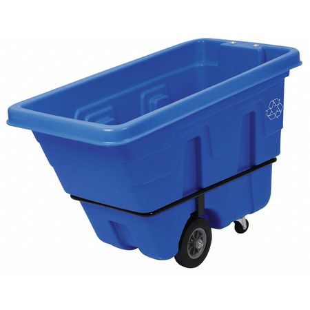 Mobile Recycling Container, Blue, 126 gal.