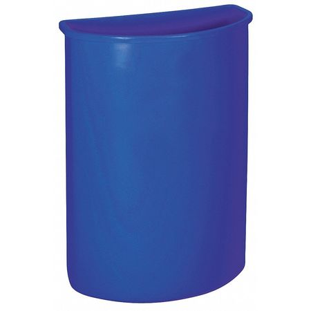 21 gal. Recycling Container Semi-Round,  Blue Plastic