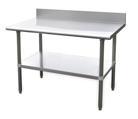 "Fixed Work Table, SS, 60"" W, 30"" D"