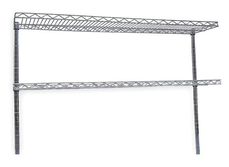 Cantilever Shelf, W 48 In, D 12 In, SS