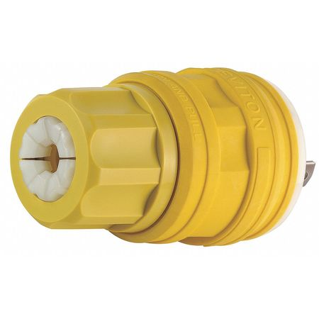 20A Watertight Locking Plug 2P 3W 277VAC L7-20P YL