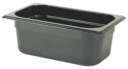 Fourth Size Food Pan, Hot, Blk