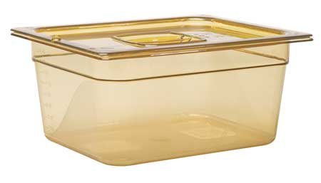 Sixth Size Food Pan, Hot, Amber