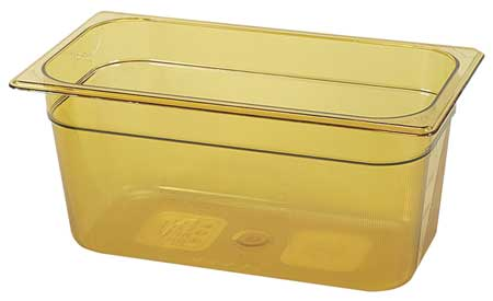 Third Size Food Pan, Hot, Amber