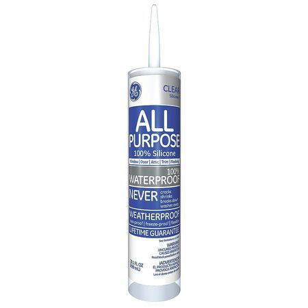 Silicone I Window and Door Sealant,  10.1 oz.,  Clear