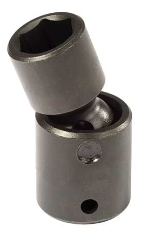 Flex Impact Socket, 3/8 In Dr, 15mm, 6 pt