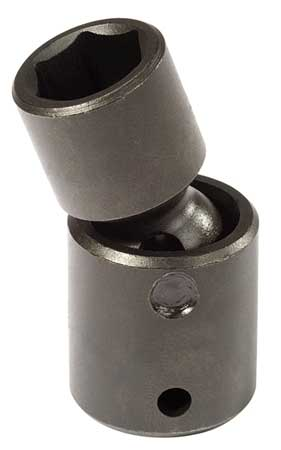 Flex Impact Socket, 3/8 In Dr, 17mm, 6 pt