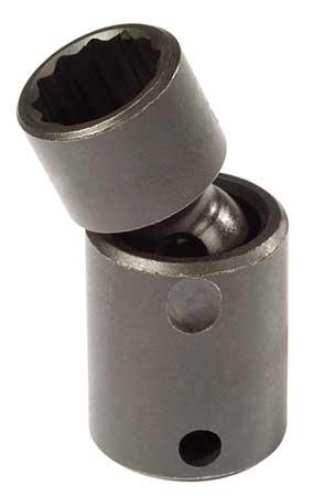 Flex Impact Socket, 3/8 In Dr, 12mm, 12 pt