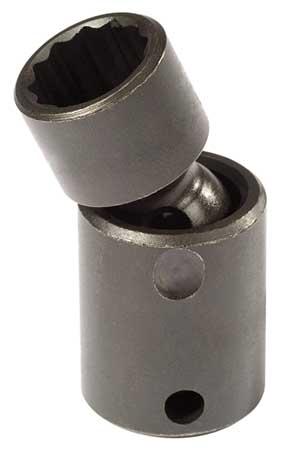 Flex Impact Socket, 3/8 In Dr, 16mm, 12 pt