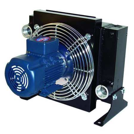Oil Cooler, AC, 8-80 GPM, 115/230 V, 1/2 HP