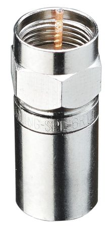Coaxial Connector, RG6 Reg/Tri/Quad, PK4