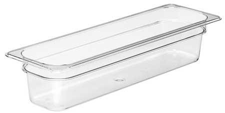 Food Pan, Half Size Long, Clear, PK6