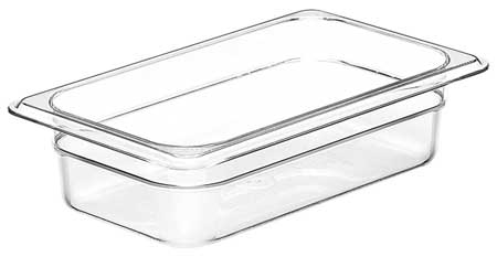 Food Pan,  Fourth Size,  Clear, PK6