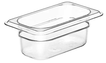 Food Pan,  Ninth Size,  Clear, PK6