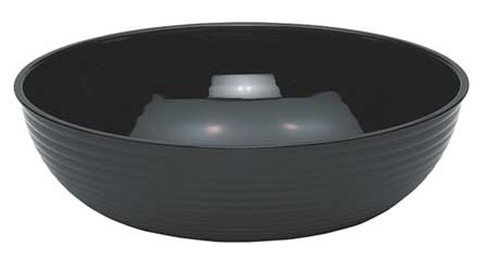 Round Ribbed Bowl,  11-1/4 qt.,  Polycarbonate Black PK4