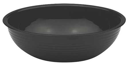 Round Ribbed Bowl,  1-1/2 qt.,  Polycarbonate Black PK12