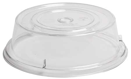 Plate Covers,  Dia. 9-1/8 In, Clear, PK12