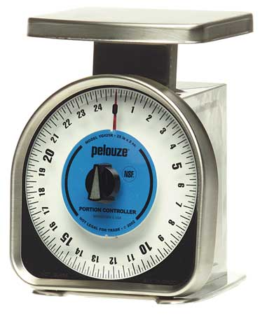 Mechanical Portion Contrl Scale, 25lb Cap