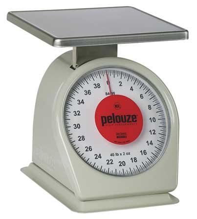 Washable Mechanical Scale, 40 lb. Cap.