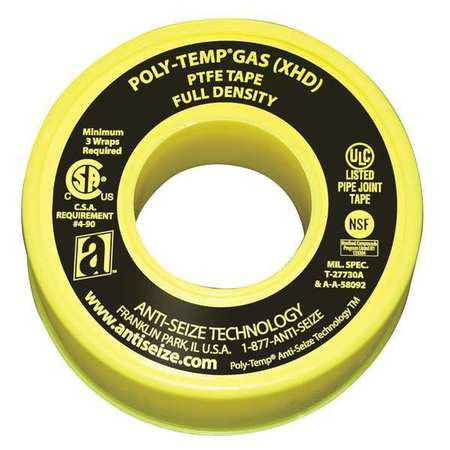 Gas Line Sealant Tape, 1/2 x 260 In